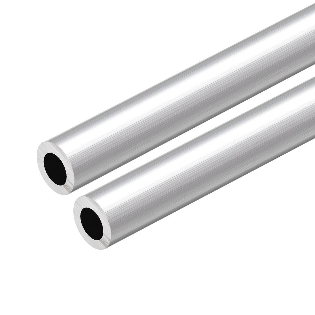 6063 Aluminum Round Tube 300mm Length 18mm OD 10mm Inner Dia Seamless Tube 2 Pcs