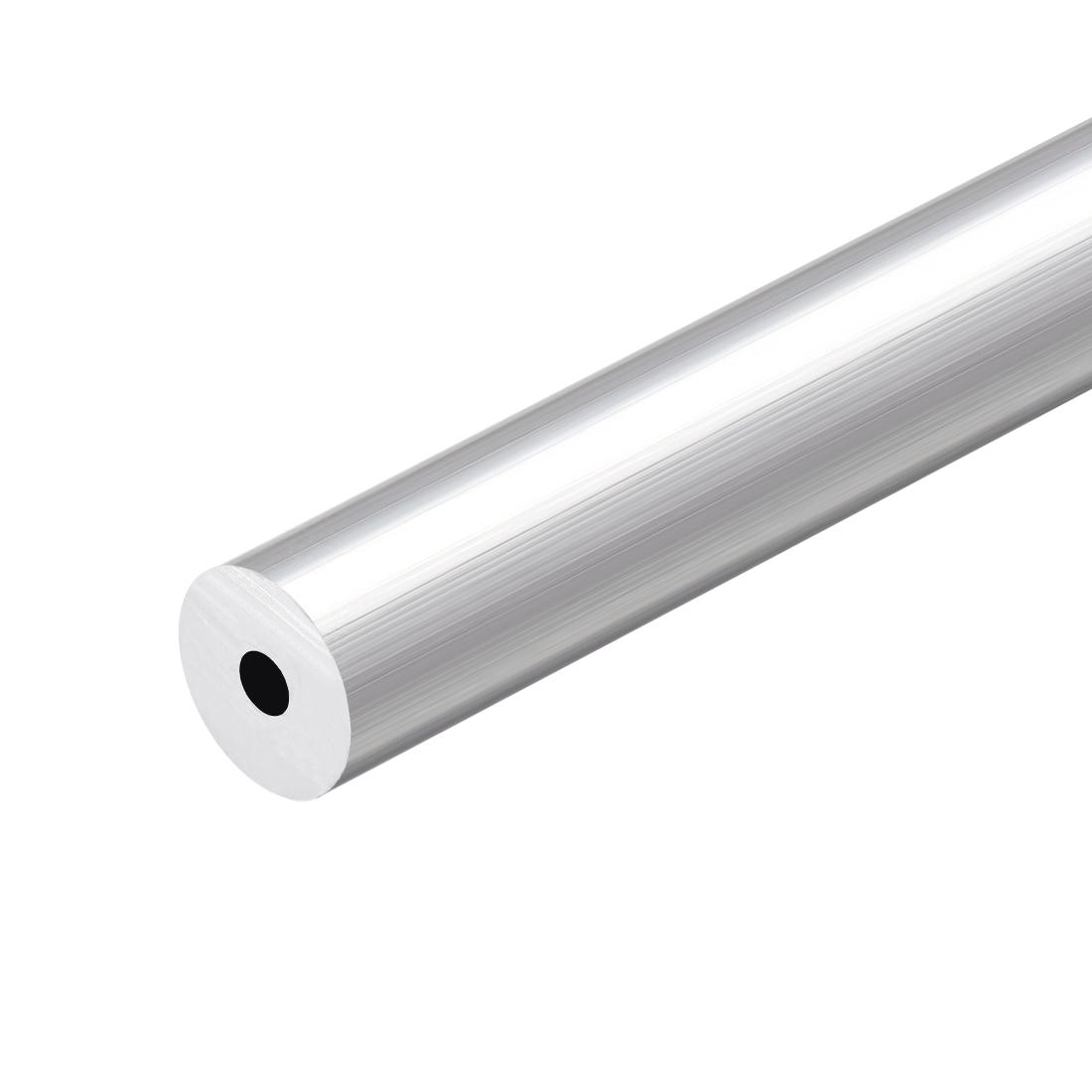 6063 Aluminum Round Tube 300mm Length 19mm OD 5.2mm Inner Dia Seamless Tubing