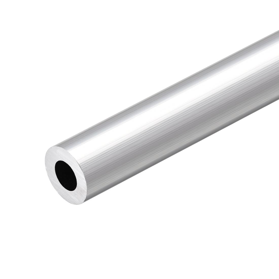 6063 Aluminum Round Tube 300mm Length 19mm OD 10mm Inner Dia Seamless Tubing
