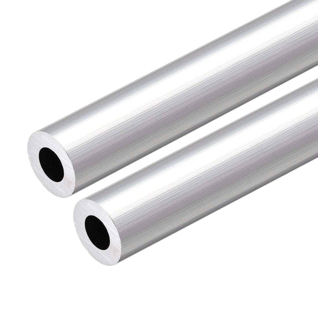 6063 Aluminum Round Tube 300mm Length 19mm OD 10mm Inner Dia Seamless Tube 2 Pcs