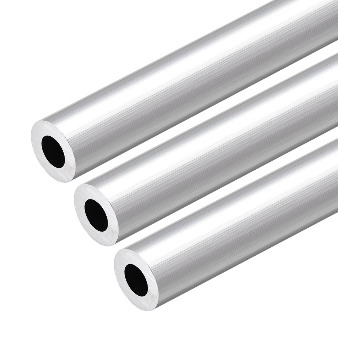 6063 Aluminum Round Tube 300mm Length 19mm OD 10mm Inner Dia Seamless Tube 3 Pcs