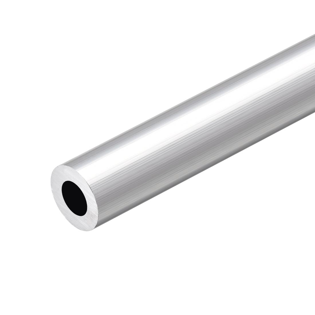 6063 Aluminum Round Tube 300mm Length 19mm OD 11mm Inner Dia Seamless Tubing