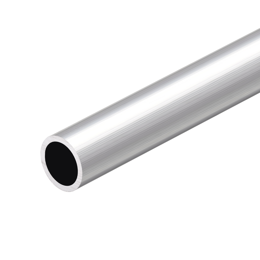 6063 Aluminum Round Tube 300mm Length x 15mm Inner Dia x 19mm OD Seamless Tubing