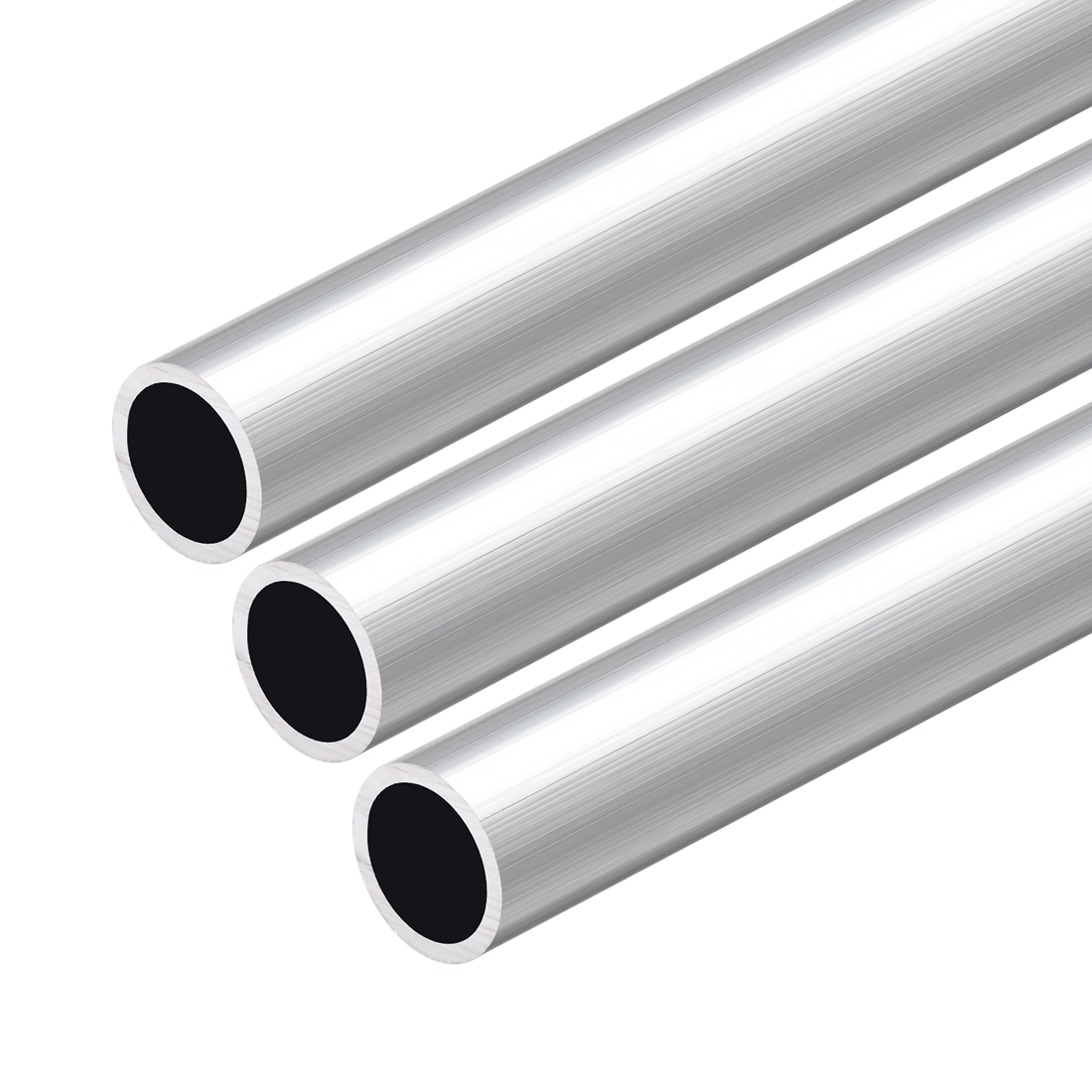 6063 Aluminum Round Tube 300mm Length 19mm OD 16mm Inner Dia Seamless Tube 3 Pcs