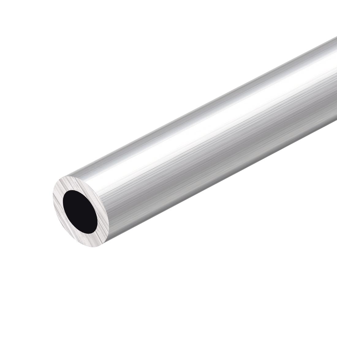 6063 Aluminum Round Tube 300mm Length 20mm OD 12mm Inner Dia Seamless Tubing