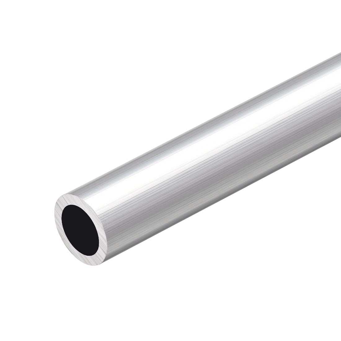 6063 Aluminum Round Tube 300mm Length 20mm OD 16mm Inner Dia Seamless Tubing
