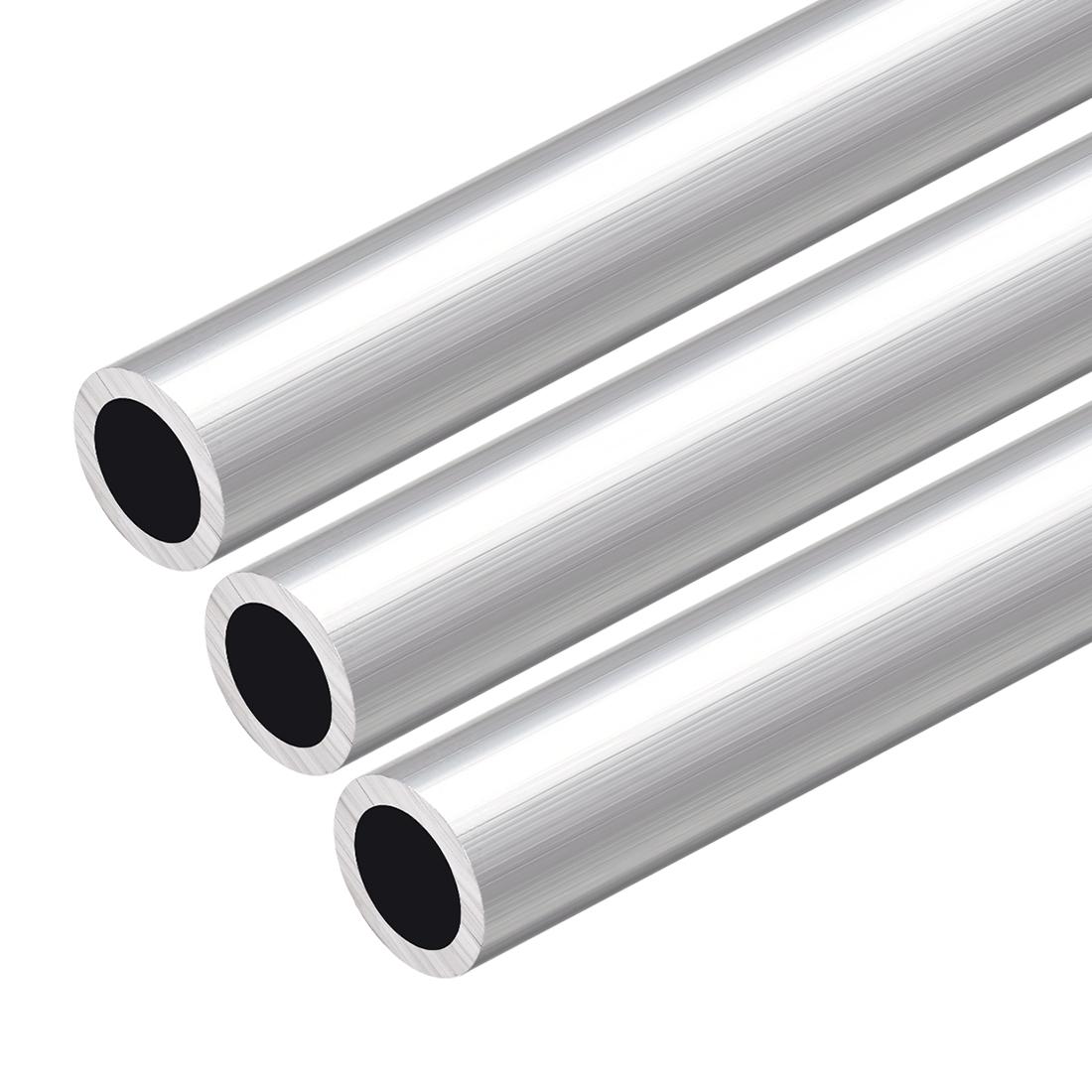 6063 Aluminum Round Tube 300mm Length 20mm OD 16mm Inner Dia Seamless Tube 3 Pcs