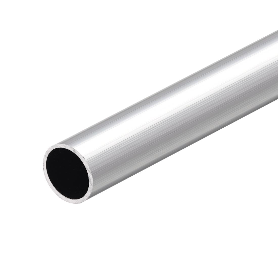 6063 Aluminum Round Tube 300mm Length 20mm OD 17mm Inner Dia Seamless Tubing