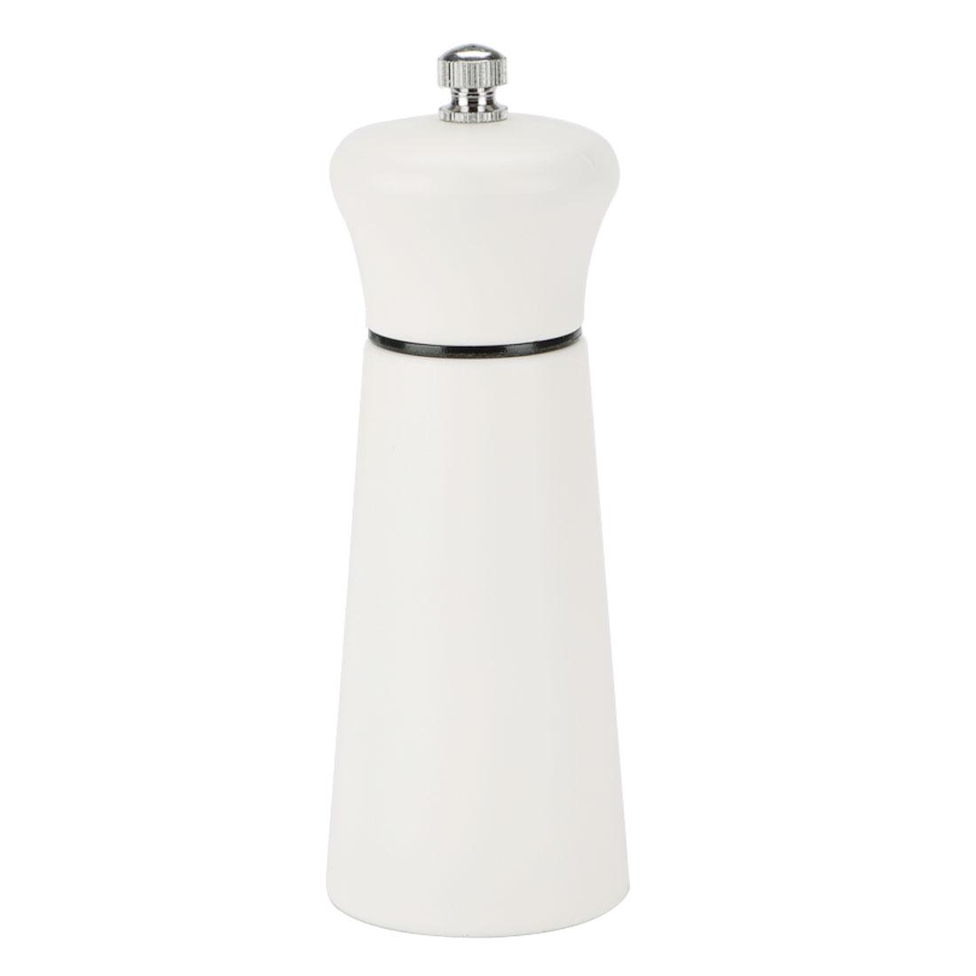 "5.5"" Wooden Salt and Pepper Grinder Hand Shaker with Adjustable Coarseness White"