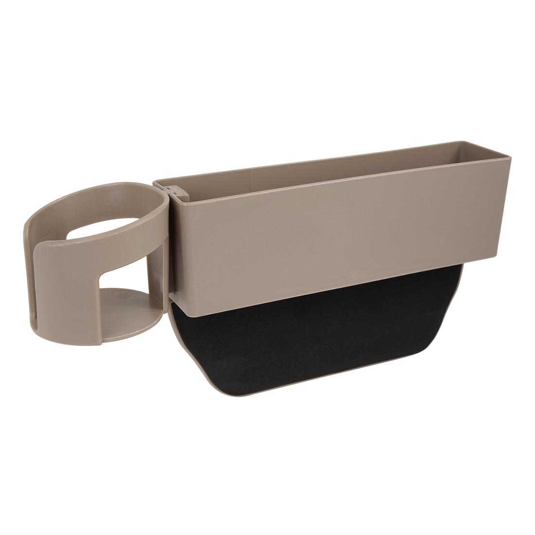 Beige Car Seat Gap Crevice Storage Side Catcher Organizer Pocket Stow Detachable
