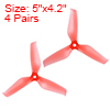 RC Propellers 5042 5x4.2 Inch CW CCW 3-Vane for Quadcopter Multirotor Red 4 Pair