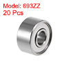 693ZZ Deep Groove Ball Bearings Z2 3x8x4mm Double Shielded Carbon Steel 20pcs