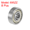 695ZZ Deep Groove Ball Bearings Z2 5x13x4mm Double Shielded Carbon Steel 8pcs