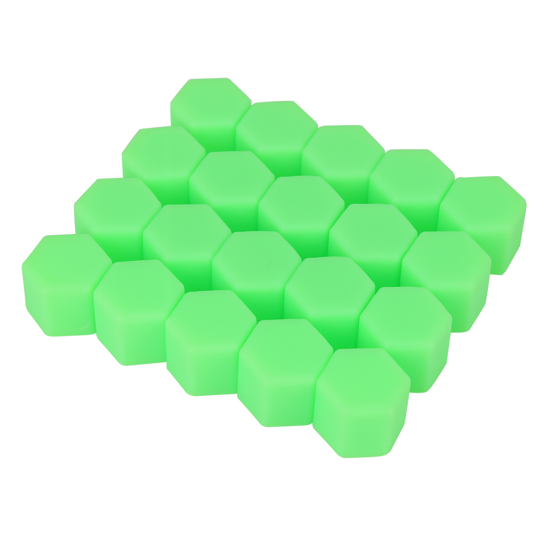 20pcs 21mm Green Silicone Car Wheel Lug Hub Covers Nut Bolt Screw Dust Caps