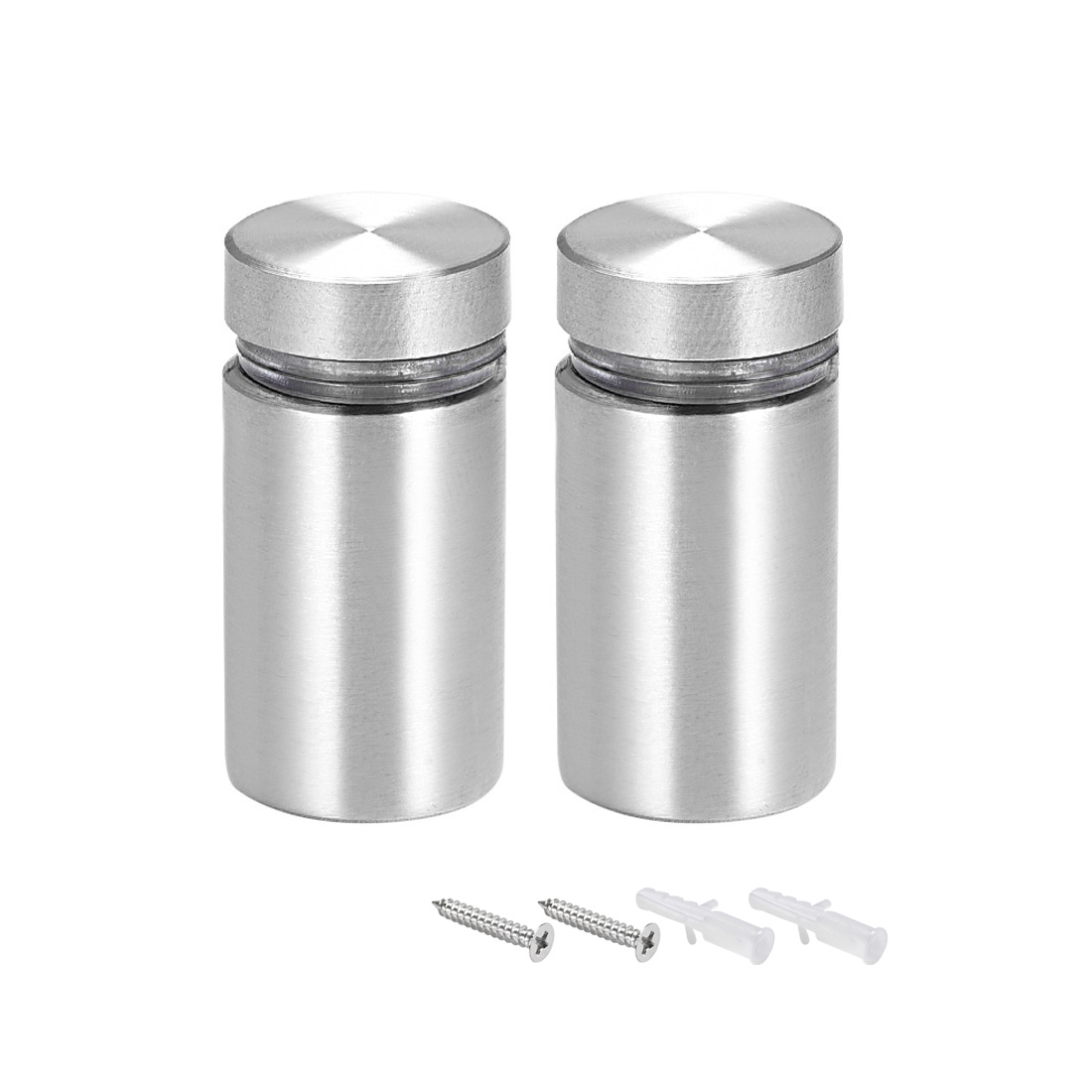 Glass Standoff Mount Solid Stainless Steel Wall Standoff Holder 16mmx28mm 2 Pcs