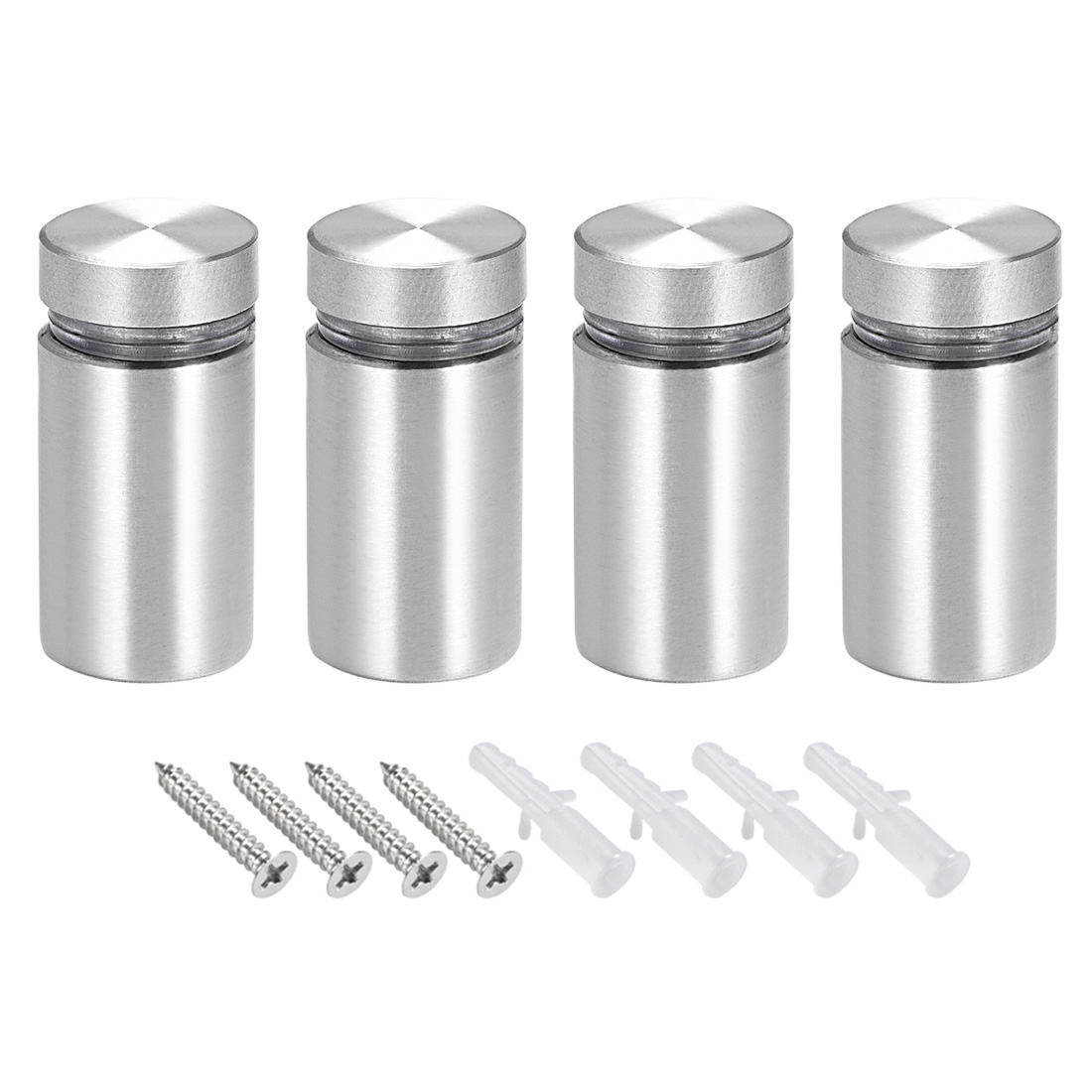 Glass Standoff Mount Solid Stainless Steel Wall Standoff Holder 16mmx28mm 4 Pcs