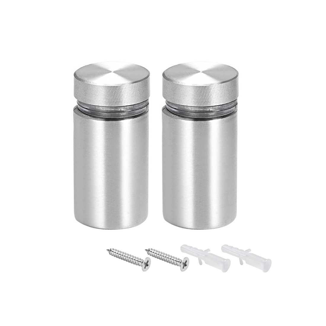 Glass Standoff Mount Solid Stainless Steel Wall Standoff Holder 16mmx33mm 2 Pcs