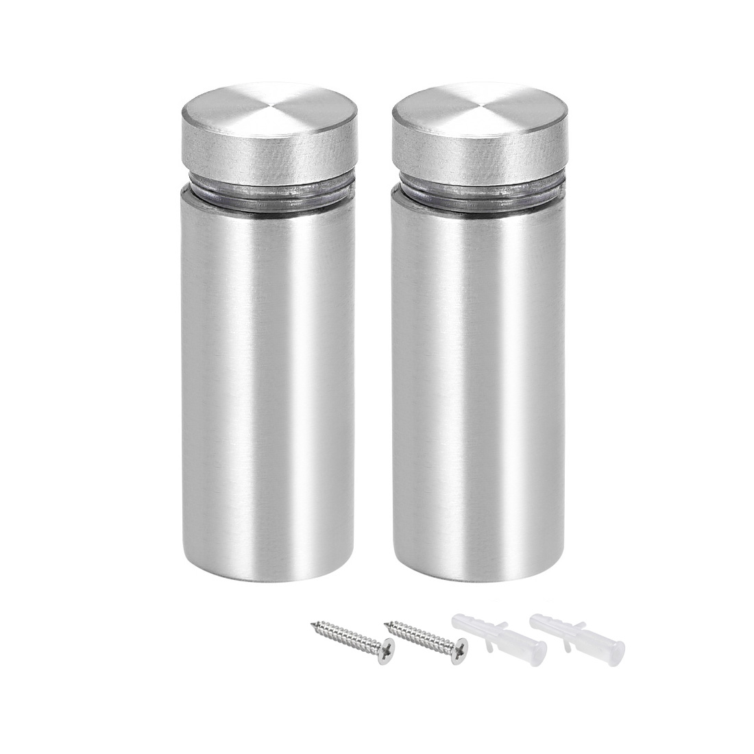 Glass Standoff Mount Solid Stainless Steel Wall Standoff Holder 16mmx42mm 2 Pcs