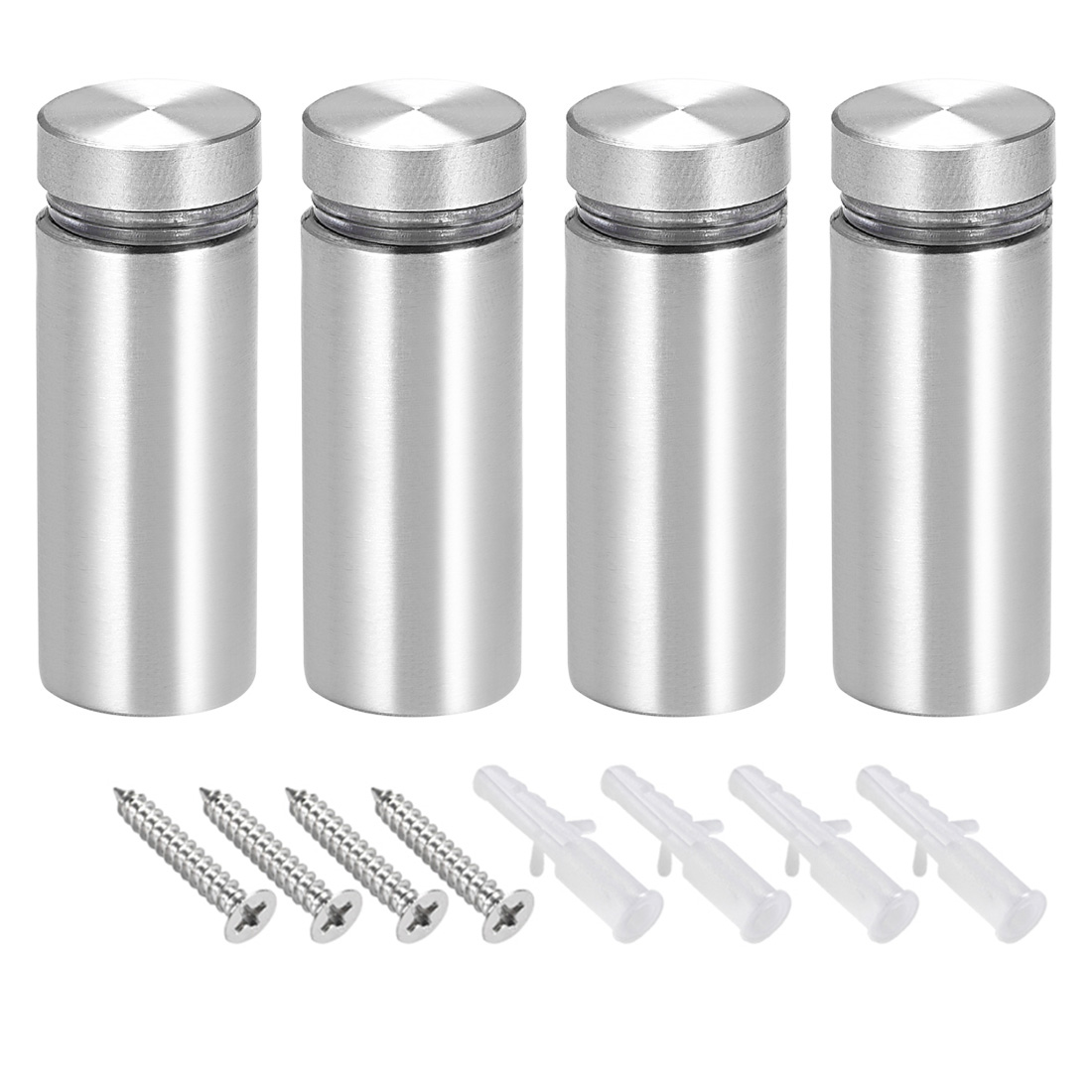 Glass Standoff Mount Solid Stainless Steel Wall Standoff Holder 16mmx42mm 4 Pcs