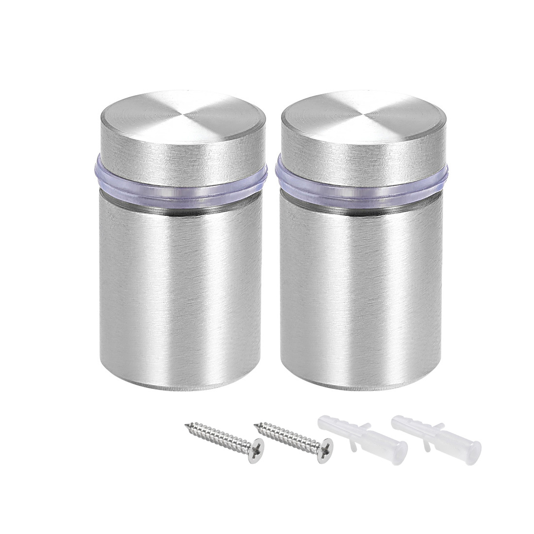 Glass Standoff Mount Solid Stainless Steel Wall Standoff Holder 18mmx28mm 2 Pcs