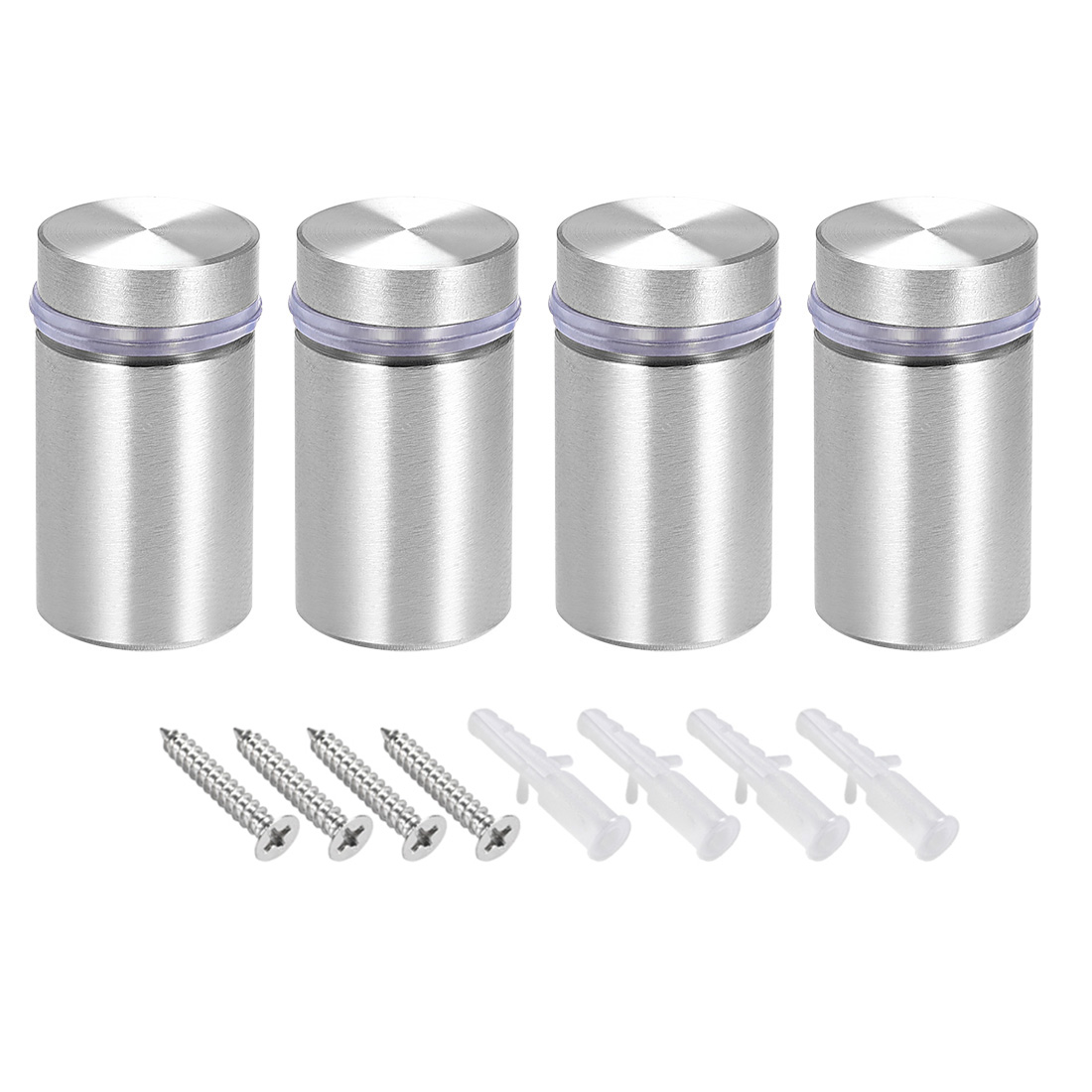 Glass Standoff Mount Solid Stainless Steel Wall Standoff Holder 18mmx33mm 4 Pcs