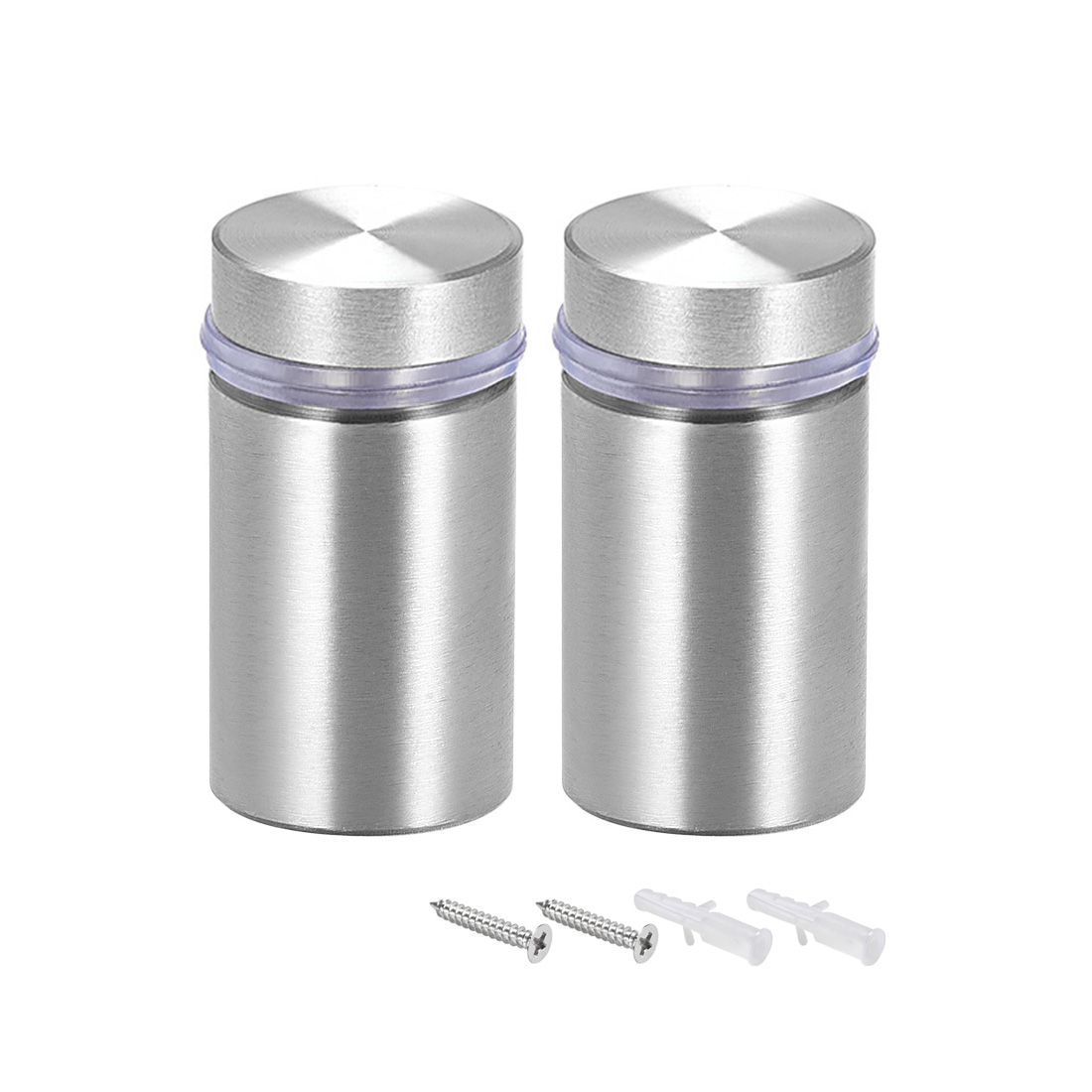 Glass Standoff Mount Solid Stainless Steel Wall Standoff Holder 25mmx43mm 2 Pcs