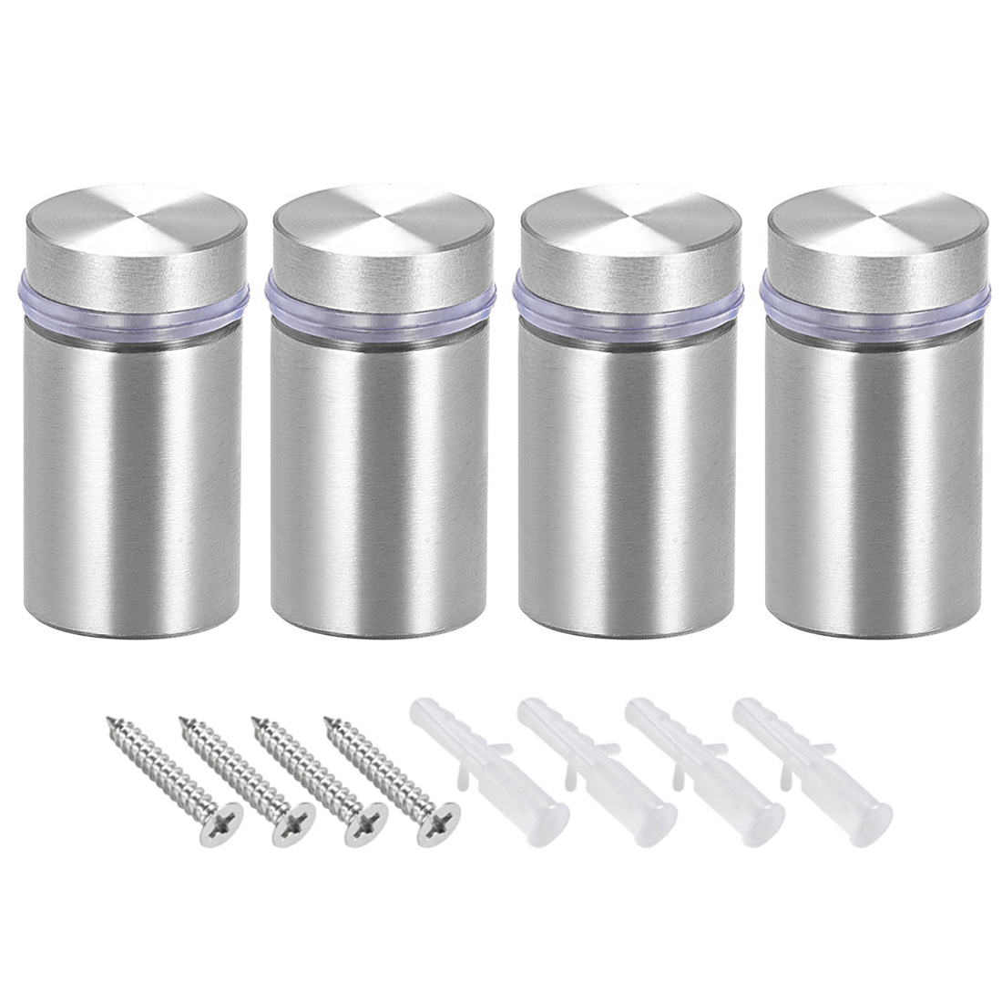 Glass Standoff Mount Solid Stainless Steel Wall Standoff Holder 25mmx43mm 4 Pcs