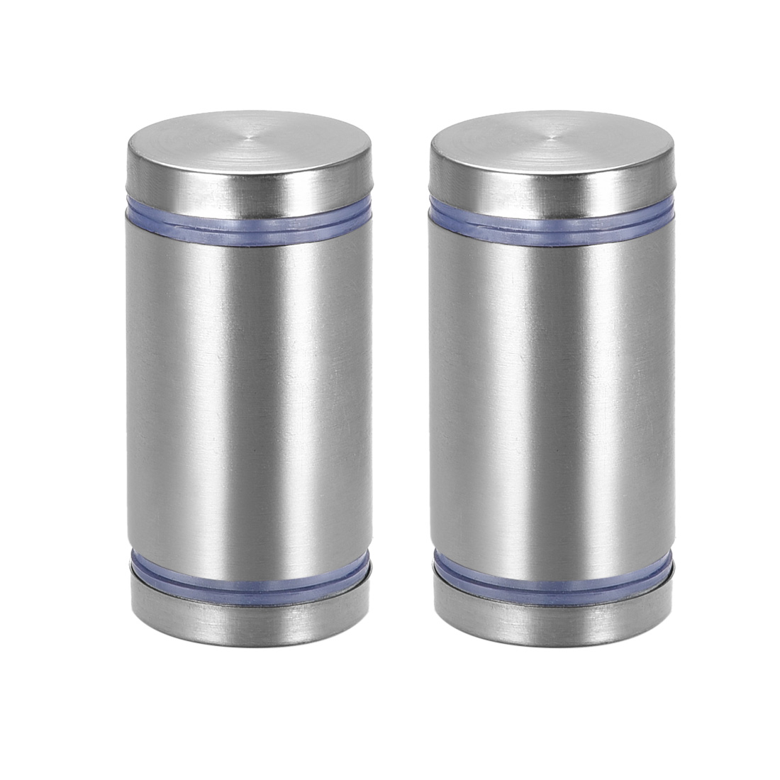 Glass Standoff Double Head Stainless Steel Standoff Holder 25mm x 45mm 2 Pcs