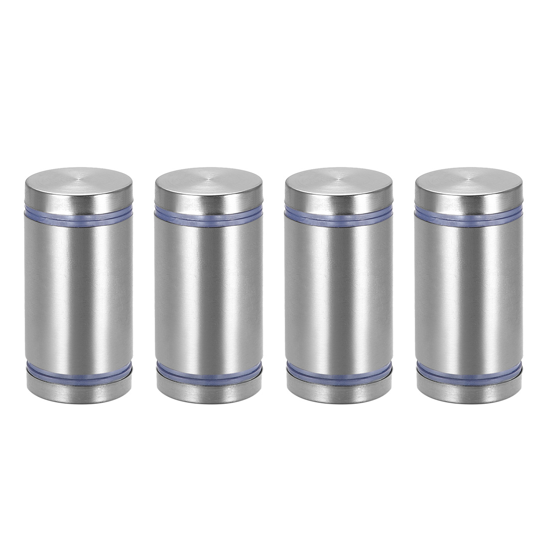 Glass Standoff Double Head Stainless Steel Standoff Holder 25mm x 45mm 4 Pcs