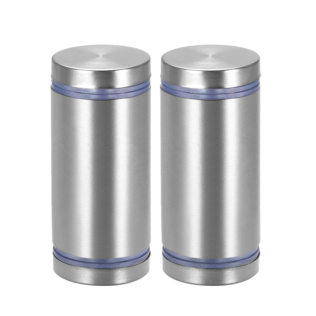 Glass Standoff Double Head Stainless Steel Standoff Holder 25mm x 55mm 2 Pcs