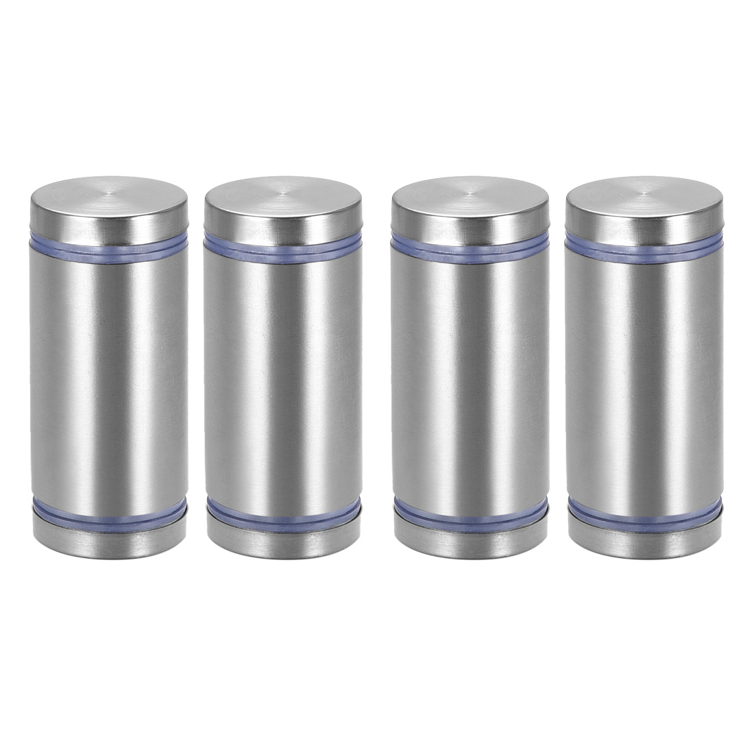Glass Standoff Double Head Stainless Steel Standoff Holder 25mm x 55mm 4 Pcs