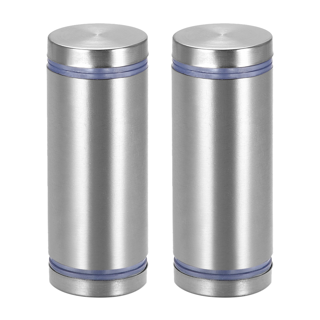Glass Standoff Double Head Stainless Steel Standoff Holder 25mm x 65mm 2 Pcs