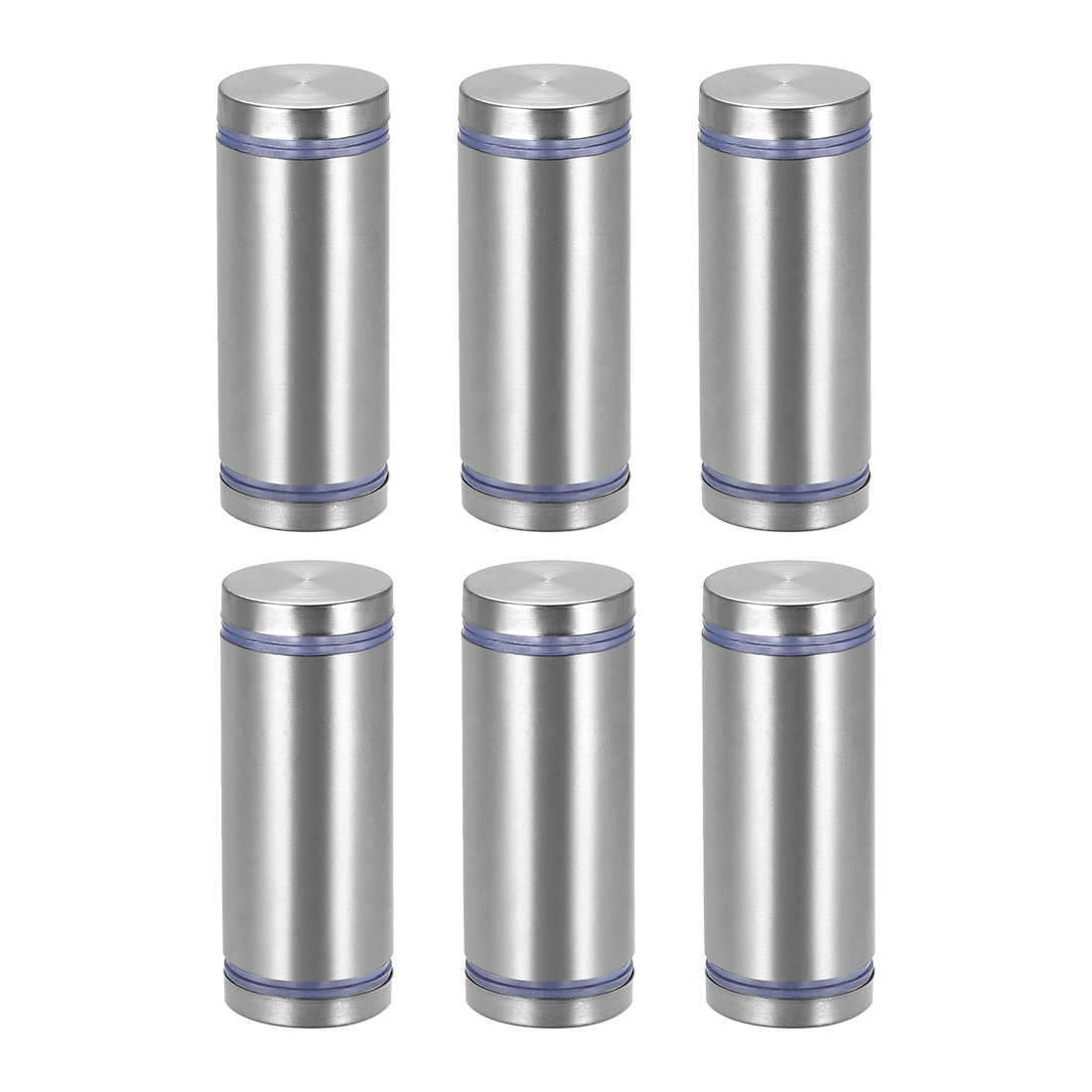Glass Standoff Double Head Stainless Steel Standoff Holder 25mm x 65mm 6 Pcs