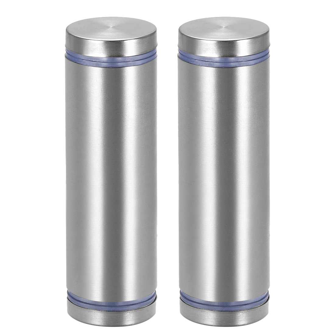 Glass Standoff Double Head Stainless Steel Standoff Holder 25mm x 85mm 2 Pcs