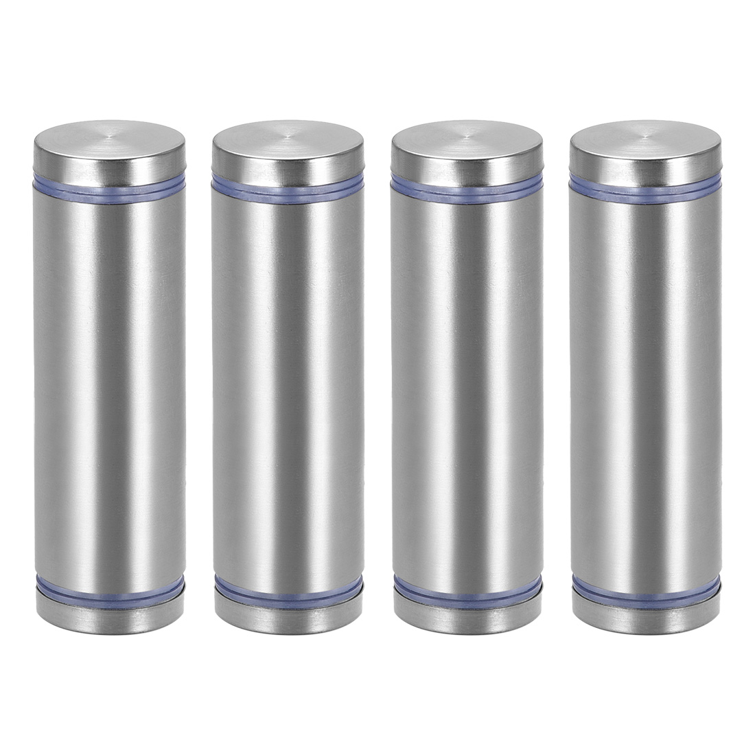Glass Standoff Double Head Stainless Steel Standoff Holder 25mm x 85mm 4 Pcs