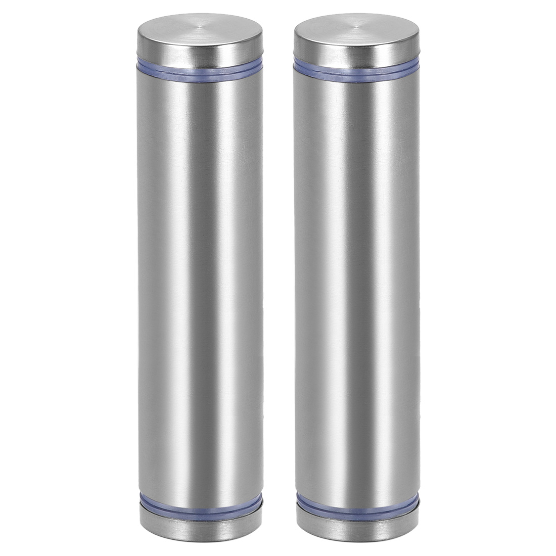 Glass Standoff Double Head Stainless Steel Standoff Holder 25mm x 105mm 2 Pcs
