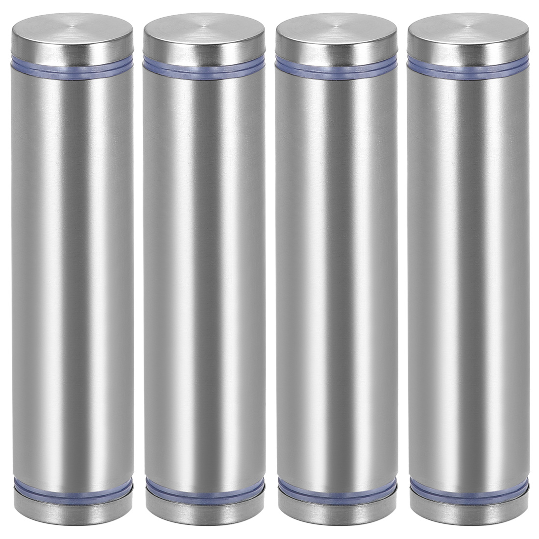 Glass Standoff Double Head Stainless Steel Standoff Holder 25mm x 105mm 4 Pcs