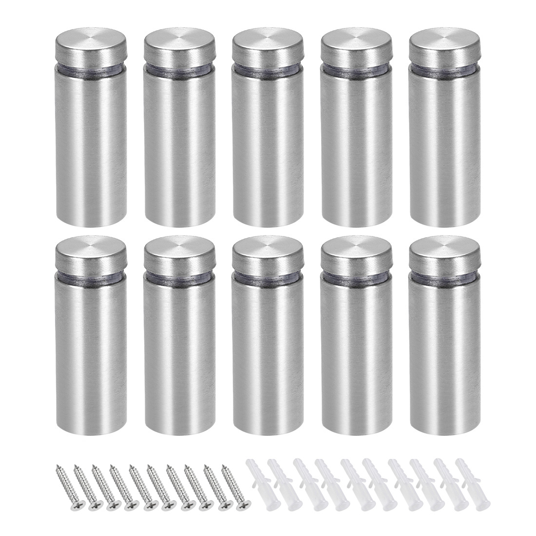 Glass Standoff Mount Stainless Steel Wall Standoff Holders 16mm x 42mm 10 Pcs