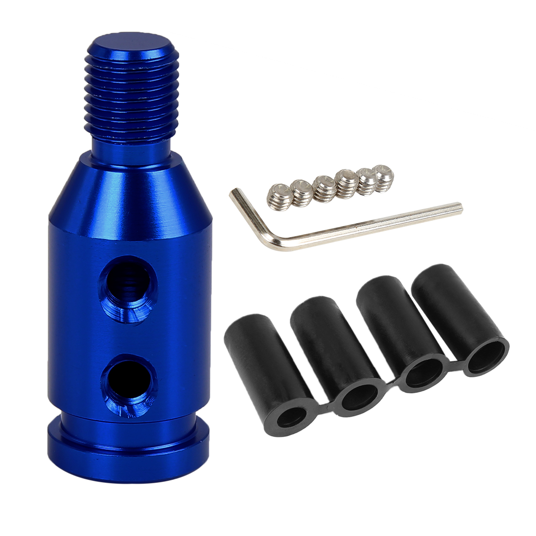 M12 x 1.25 Car Universal Blue Gear Shift Knob Adapter for Non Threaded Shifter