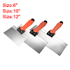Putty Taping Paint Scrapers 6 10 12 Stainless Steel Edge Plastic Handle 3in1 Set