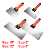 Putty Taping Paint Scrapers 6 8 10 12 Stainless Steel Edge Plastic Handle 4pcs