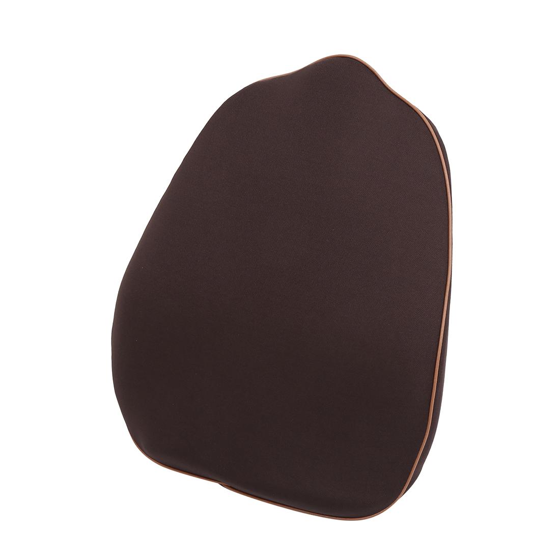 Car Seat Back Lumbar Support Pillow Balanced Softness Memory Foam Cushion Brown