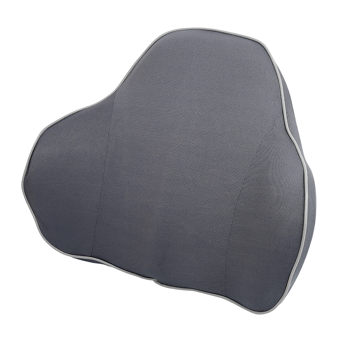 Car Seat Backrests Pillow Lumbar Rest Soft Memory Foam Breathable Cushion Gray
