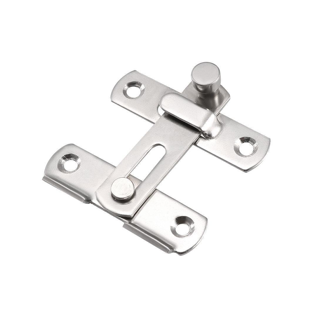 Flip Door Latch 201 Stainless Steel 51x48mm Gate Latch Hasp Slide Lock 3 Pcs