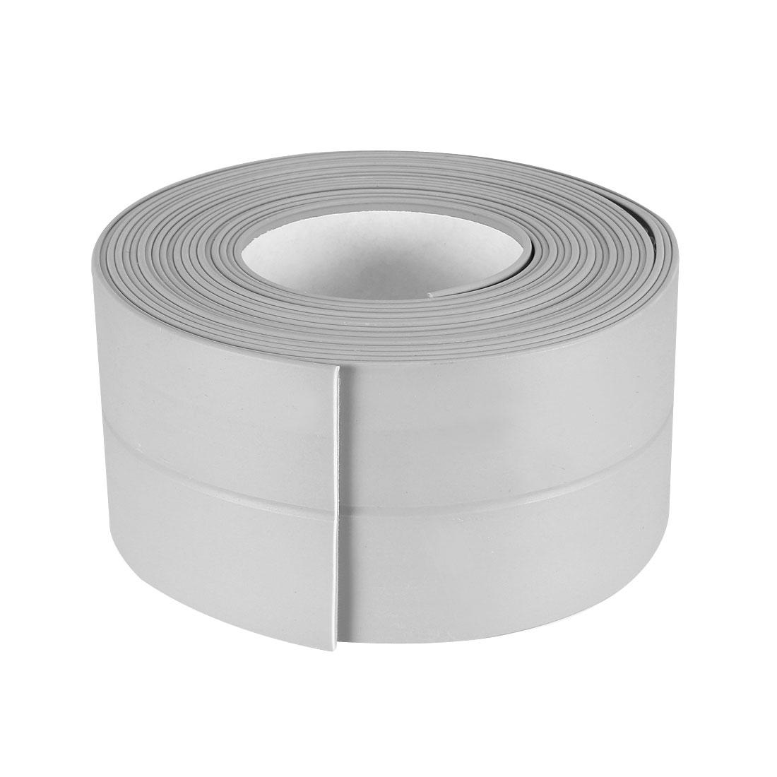 Caulk Strip Flexible Self Adhesive Tape for Wall Sealing 10.5ftx38mm Gray, 3 Pcs