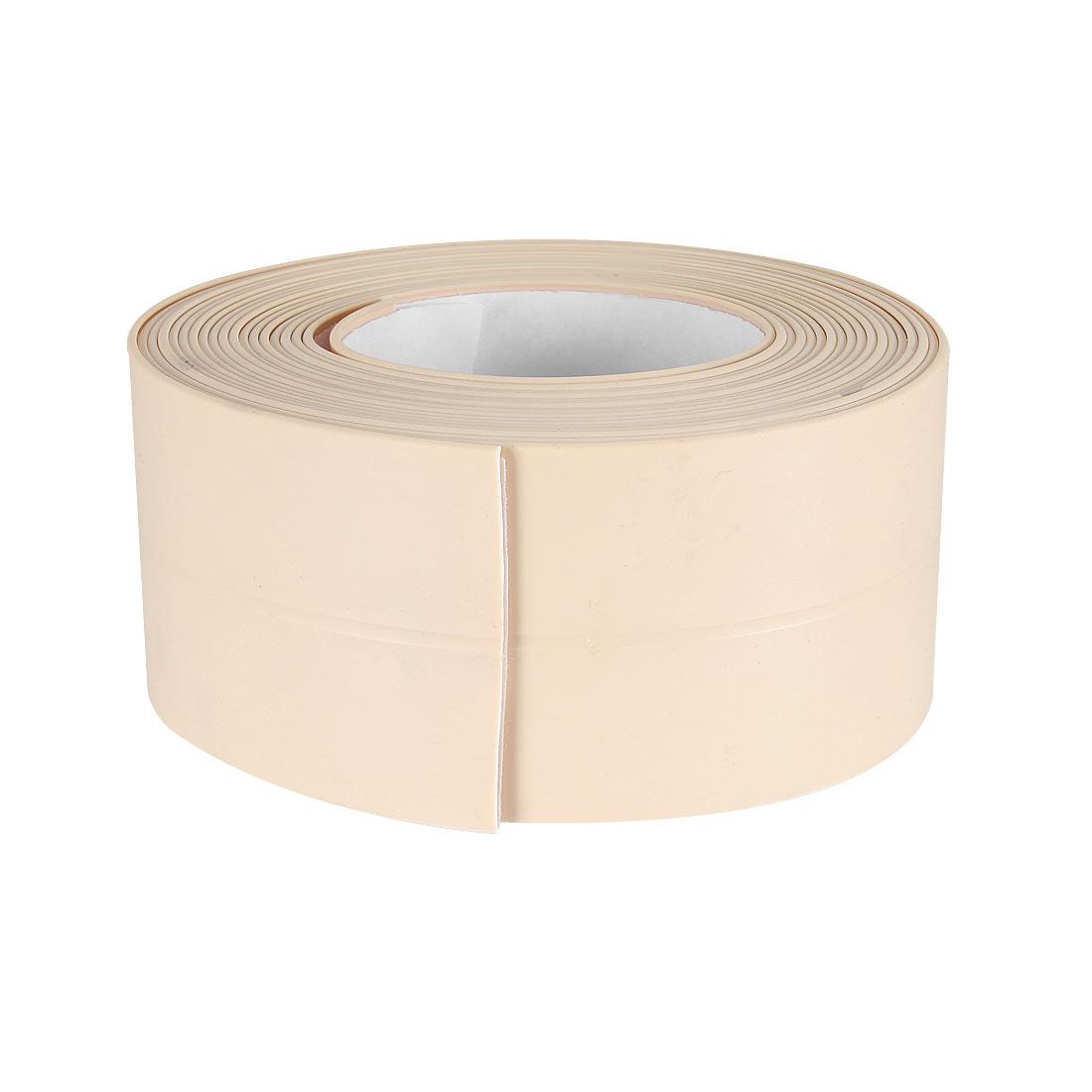 Caulk Strip Flexible Self Adhesive Tape for Wall Sealing 10.5ftx38mm (Beige)