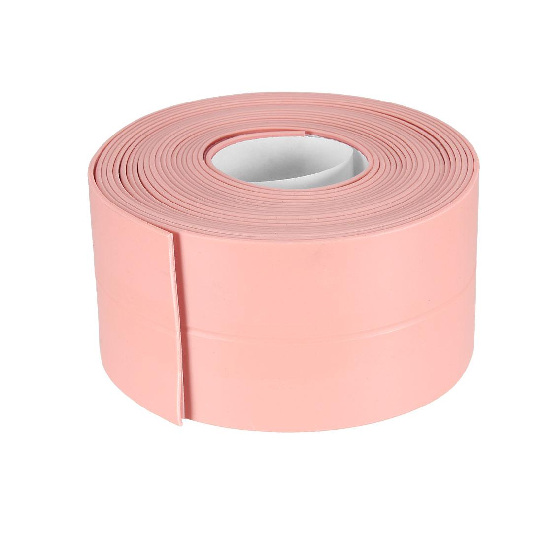 Caulk Strip Flexible Self Adhesive Tape for Wall Sealing 10.5ftx38mm (Pink)