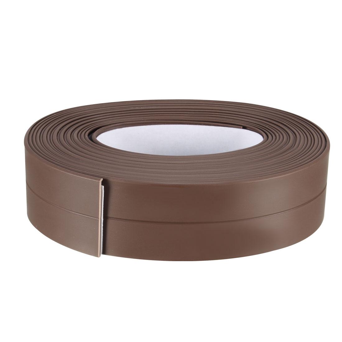 Caulk Strip Flexible Self Adhesive Tape for Wall Sealing 10.5ftx22mm Coffee 3pcs