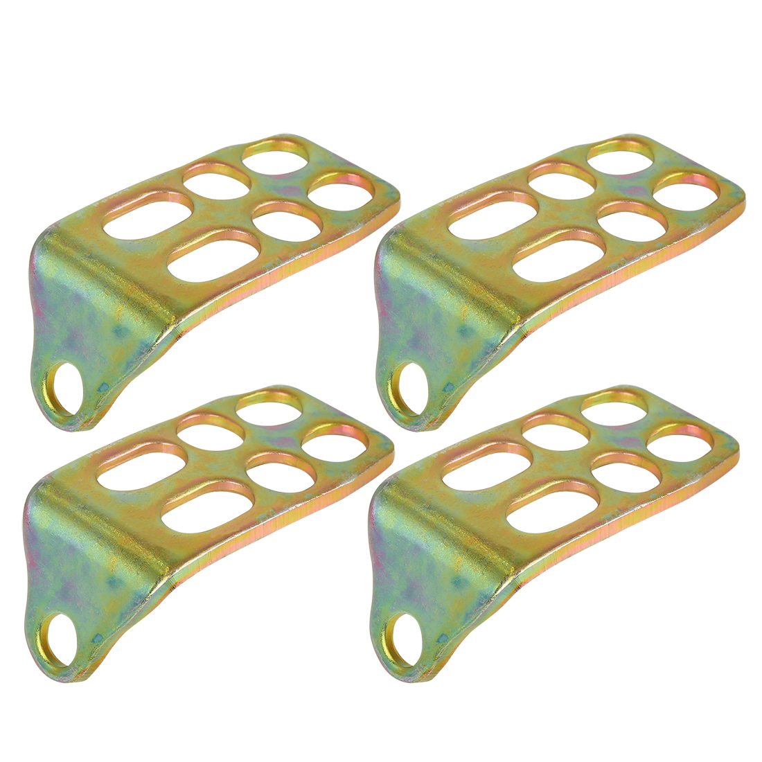 2 Pair Foot Pegs Plate Foot Board Footrest Foot Pedal Metal for Motorcycle