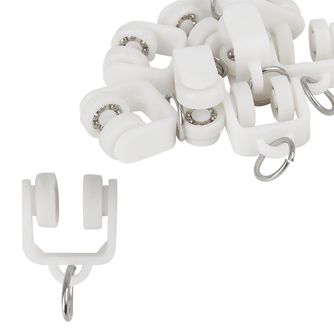10pcs Plastic Car Curtain Track Rollers for RV Caravan Motorhomes 21 x 35mm